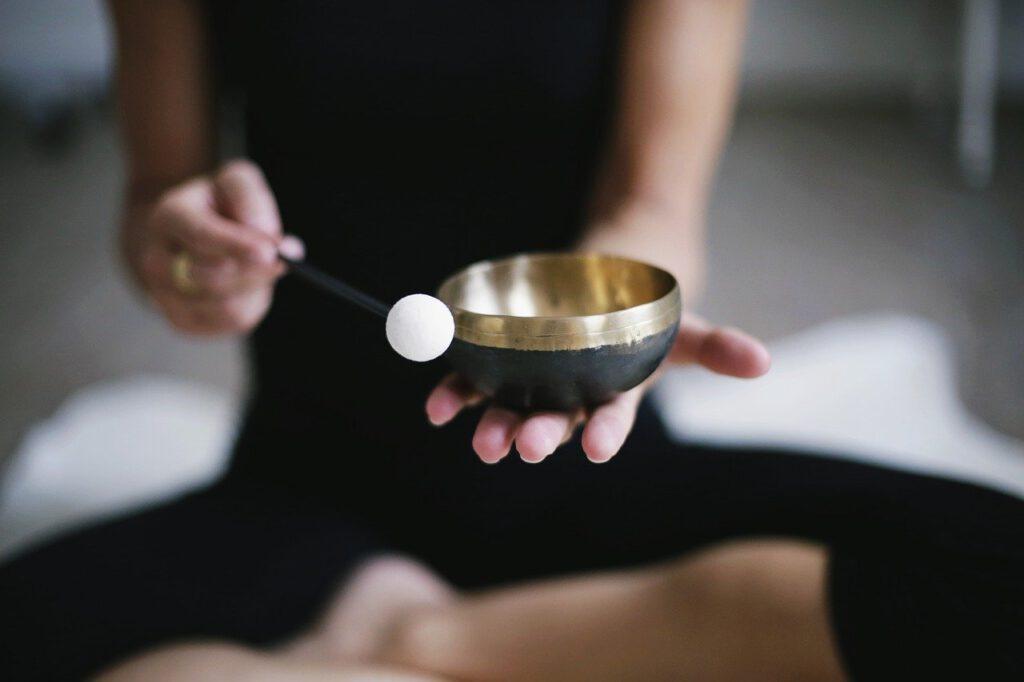 meditation, gong, meditate