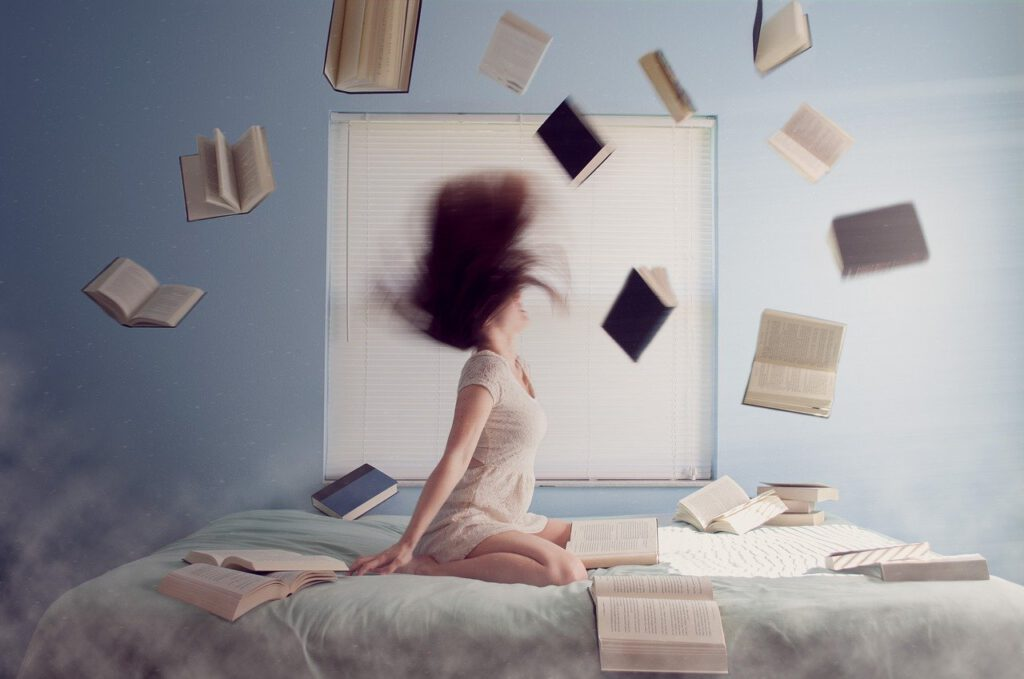 woman, studying, learning
